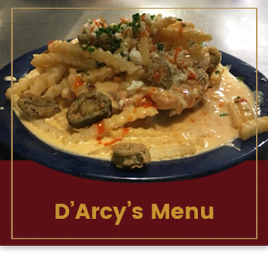 Graphic bucket for the Menu and Gift Card page for D'Arcy's pint in Springfield, Illinois